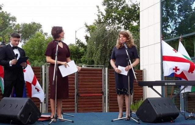 Илияна Йотова присъства на тържественото отбелязване на Деня на независимостта на Грузия, организирано от грузинското посолство в София