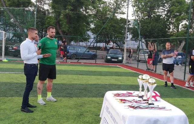 Николай Диков награди осмия носител на Купата на ГЕРБ по футбол на малки вратички в Стара Загора
