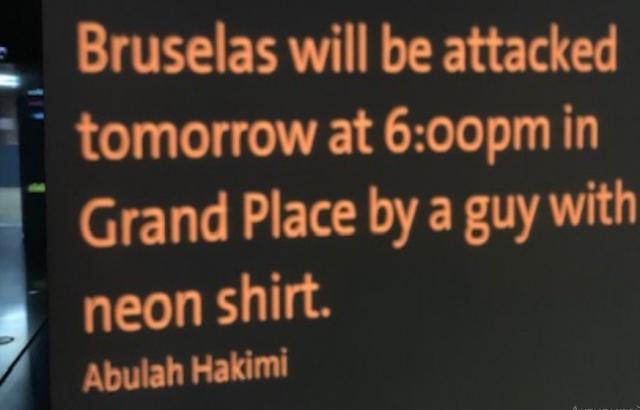Издирва се авторът на надпис с предупреждение за атентат в Брюксел