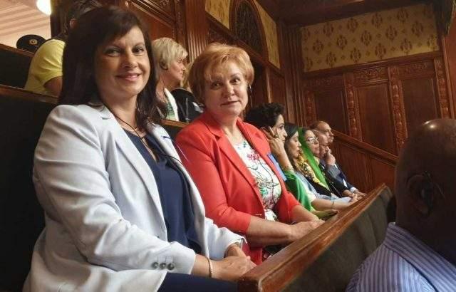 Даниела Дариткова и Менда Стоянова на среща на жените лидери в Япония