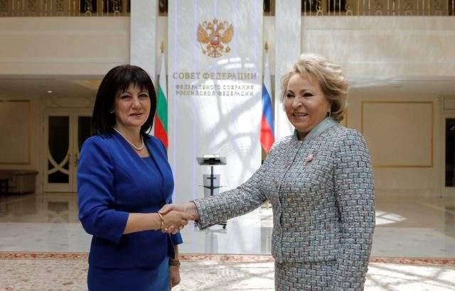 Цвета Караянчева: Русия е важен партньор на България в енергийната сфера