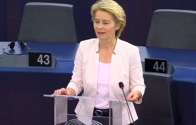 Дясната Урсула фон дер Лайен предлага зелена сделка за Европа