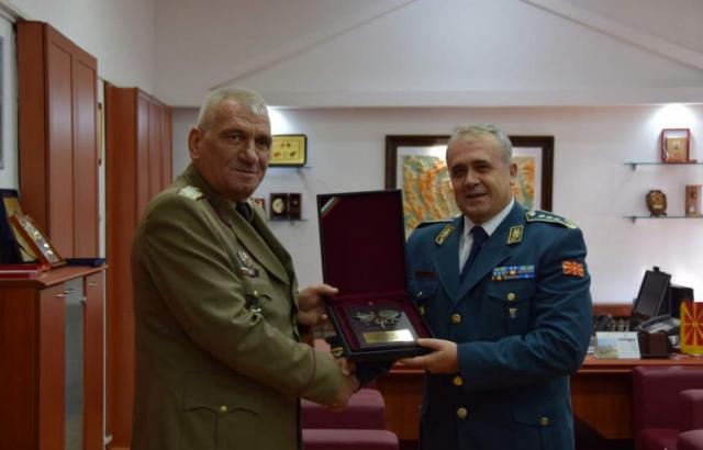 Ген. Андрей Боцев се срещна с президента на Северна Македония Стево Пендаровски