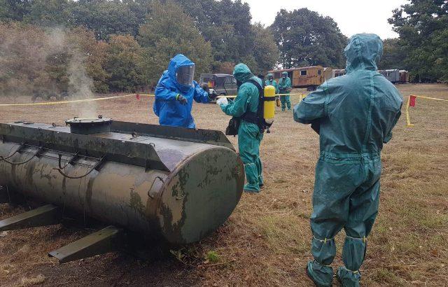 Химиците на ВВС преминаха полева подготовка
