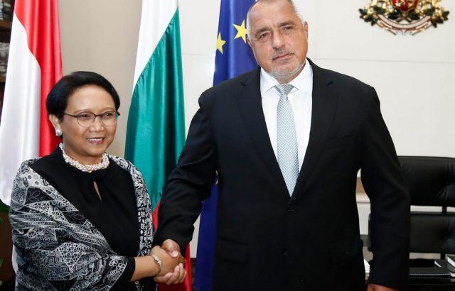 Борисов се срещна с министъра на външните работи на Република Индонезия  Рътно Марсуди