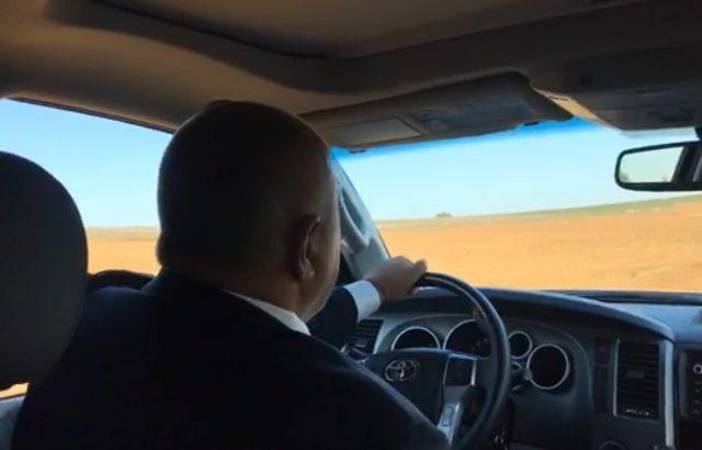 """Борисов разгледа част от  трасето на """"Балкански поток"""""""